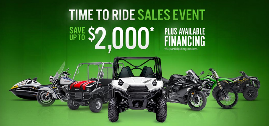 Save up to $2000 on new Kawasaki