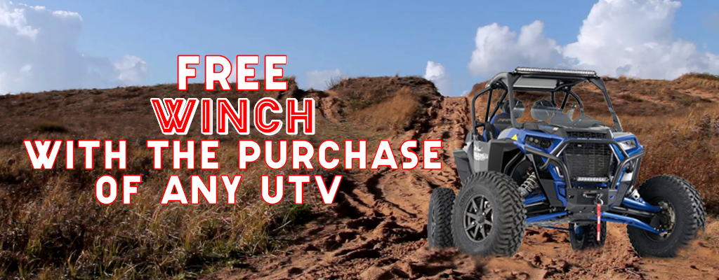 Free Winch with purchase of any UTV