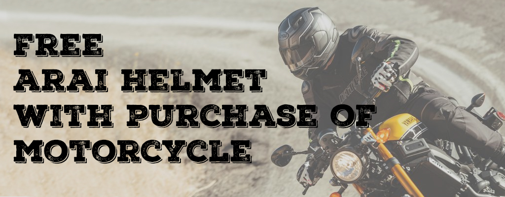 Free Arai Helmet with Street Bike Purchase