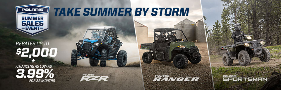 Polaris Take Summer By Storm Sales Event 2019